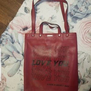 Rebecca Minkoff leather Love you tote